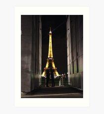 Mystery Parisian Lovers Art Print