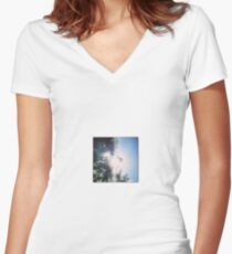 Shining Through - by momma Women's Fitted V-Neck T-Shirt