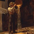 Eastman Johnson - Winnowing Grain by MotionAge Media