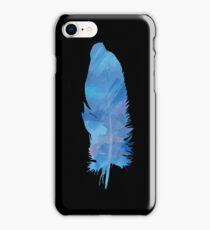 Blue Watercolour FEATHER iPhone Case (Black) iPhone Case/Skin