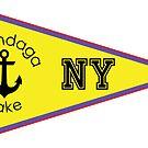 ONONDAGA LAKE NEW YORK NAUTICAL FLAG SAILING BOATING FISHING SYRACUSE ANCHOR by MyHandmadeSigns