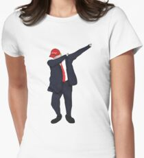 Dabbing Donald Women's Fitted T-Shirt