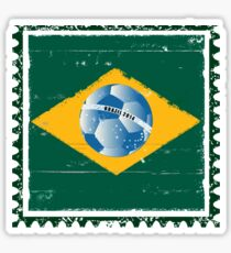 Brazil flag like stamp in grunge style Sticker