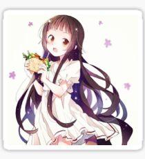 Yui eating spicy sandwich-SAO Sticker