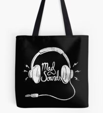 Mad Sounds White Tote Bag