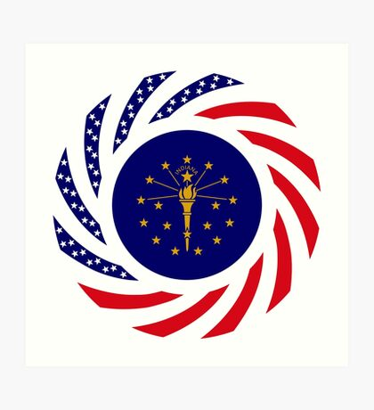Indiana Murican Patriot Flag Series Art Print