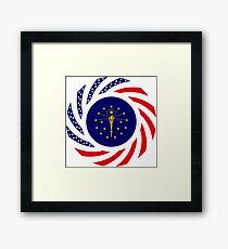 Indiana Murican Patriot Flag Series Framed Print