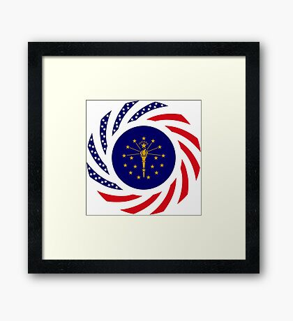 Indiana Murican Patriot Flag Series Framed Print