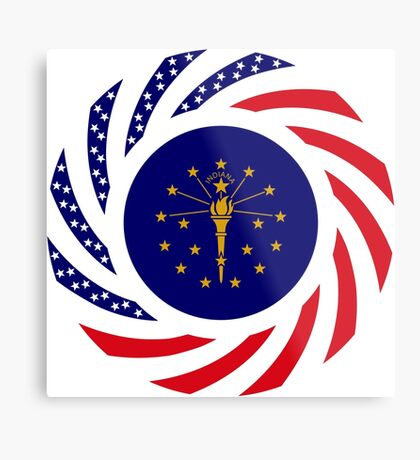Indiana Murican Patriot Flag Series Metal Print
