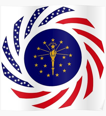 Indiana Murican Patriot Flag Series Poster