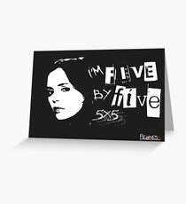 I'M FIVE BY FIVE Greeting Card