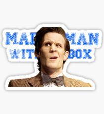 Mattman with a box Sticker