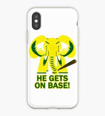 He Gets on Base! Elephant! iPhone Case