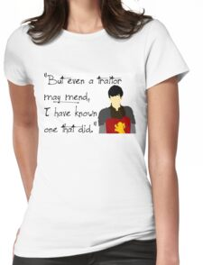 Edmund Pevensie Traitor Quote Womens Fitted T-Shirt