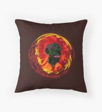 Flower in the globe Throw Pillow