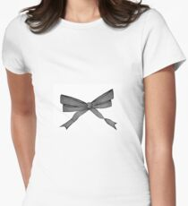 The bow Womens Fitted T-Shirt