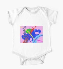 Psychedelic Abstract Pattern One Piece - Short Sleeve