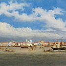 Giuseppe Leone (Joseph León) Righini (ca. ) A PANORAMIC VIEW OF THE BAY OF BELÉM DO PARÁ, BRAZIL by MotionAge Media
