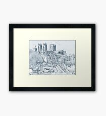York, in pen and ink Framed Print
