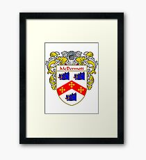 McDermott Coat of Arms/Family Crest Framed Print