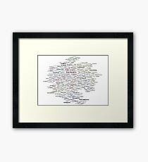 Google Search based Knowledge Graph of Programmers Framed Print