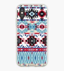 Native american seamless tribal pattern with geometric elements iPhone-Hülle & Cover