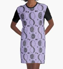 moons Graphic T-Shirt Dress