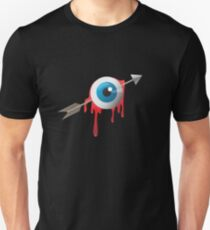 Arrow eye -blue on black- T-Shirt