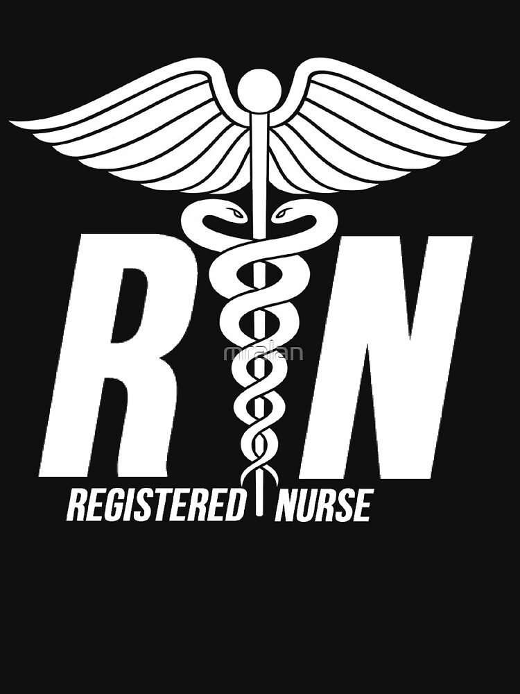 Registered Nurse Symbol Unisex T Shirt By Mralan Redbubble