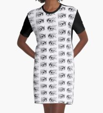 eyes Graphic T-Shirt Dress
