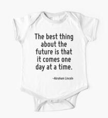 The best thing about the future is that it comes one day at a time. One Piece - Short Sleeve