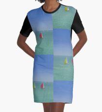 Coloured Sails Graphic T-Shirt Dress
