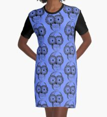 skull Graphic T-Shirt Dress