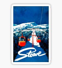 Vintage winter wonderland gondola winter sport snow ski Sticker