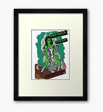 She-Hulk Smash! Framed Print