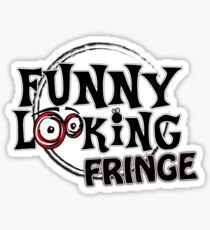 Funny Looking Fringe Sticker
