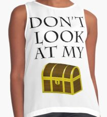 Don't look at my chest Contrast Tank