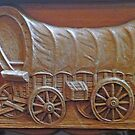 Old Covered Wagon Dresser by Vivian Eagleson