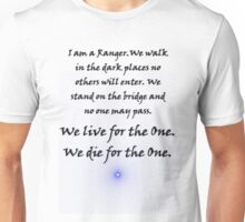 Ranger Oath from Babylon 5 (whitevbackground) Unisex T-Shirt