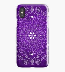 Mandala Purple and White iPhone Case/Skin