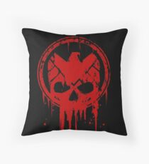 Compromised (RED) Throw Pillow