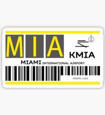Destination Miami Airport Sticker
