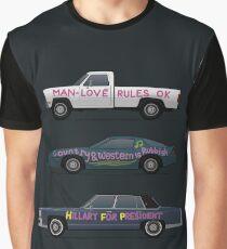 US Road Trip Cars Graphic T-Shirt