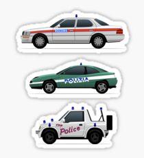 Police car challenge Sticker