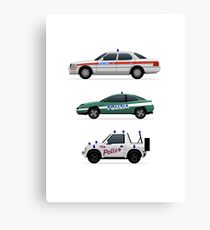 Police car challenge Canvas Print