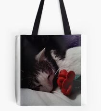 Snuggle Muffin With a Rose Tote Bag