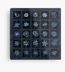 Snowflake collage - Season 2013 dark crystals Metal Print