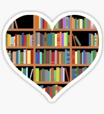 Books heart Sticker