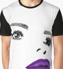 Painted Lady Purple Gloss Graphic T-Shirt