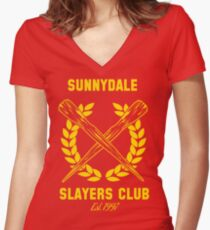 Sunnydale Slayers Club Women's Fitted V-Neck T-Shirt
